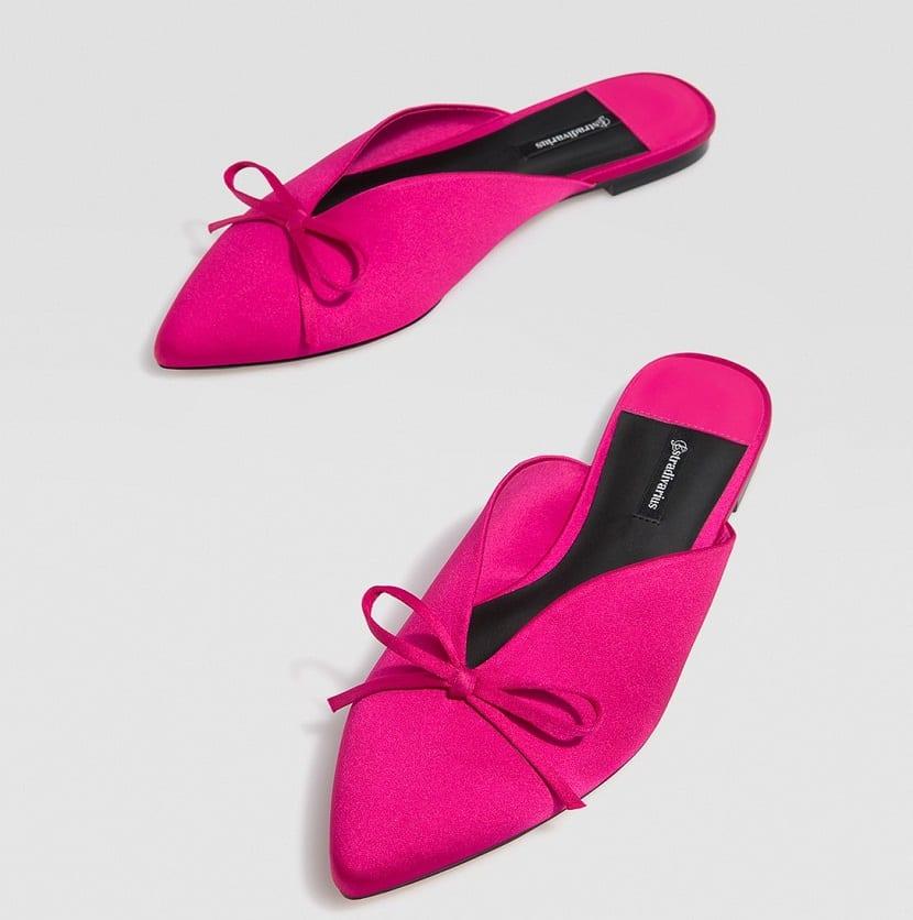 Zapato mule en rosa