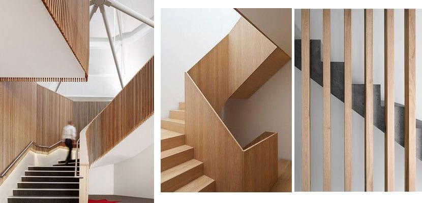 Barandillas de escalera de diferentes estilos para tu hogar - Escaleras de madera modernas ...