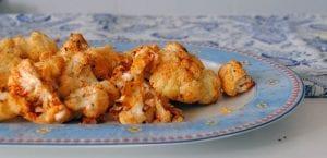 Coliflor asada con queso parmesano