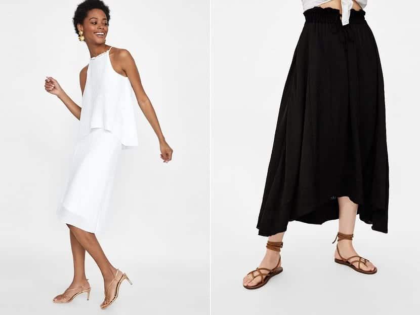Faldas lisas de Zara