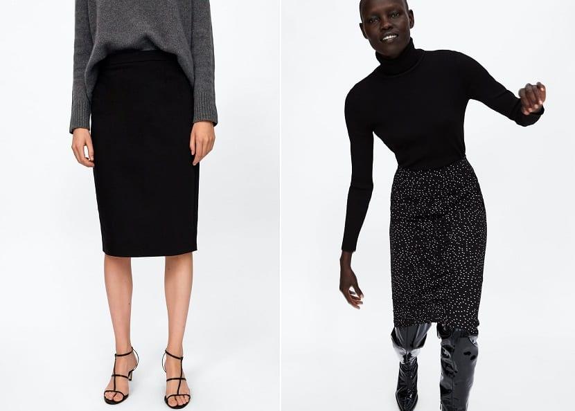 Faldas de tubo