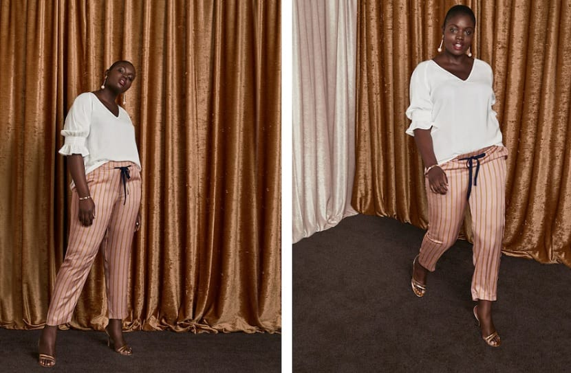 pantalones de rayas