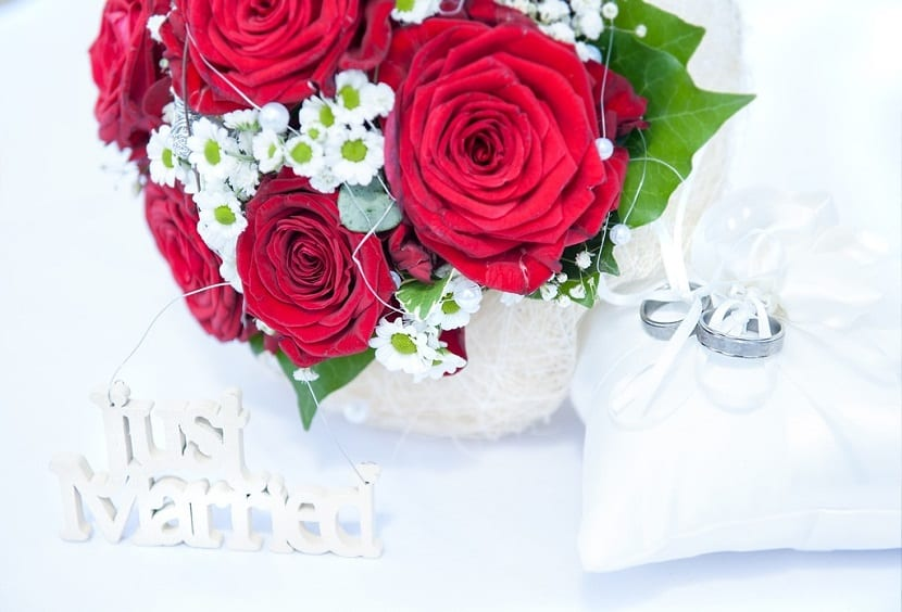 Rosas para el ramo de novia