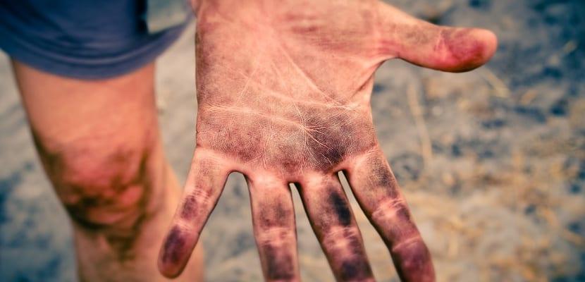 manos sucias deporte