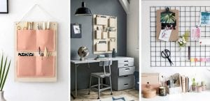 3 organizadores de pared DIY para tu escritorio
