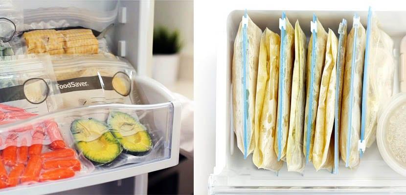 Organización del congelador