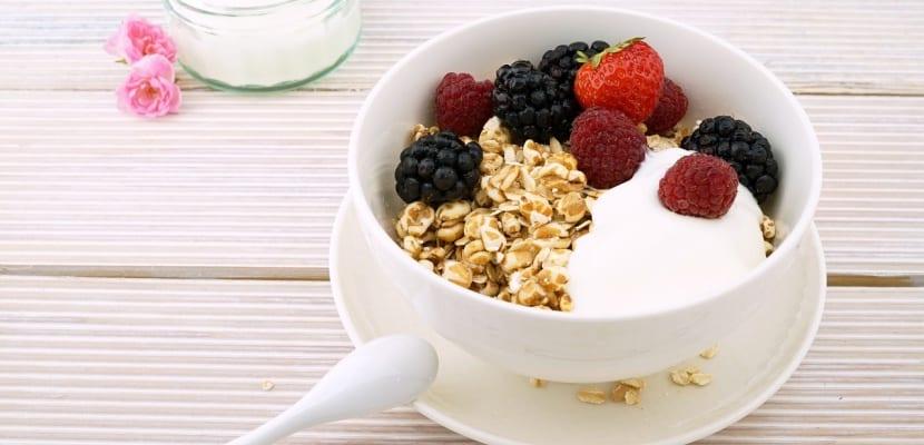 bol de yogurt con avena