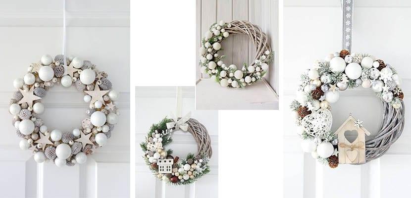 Coronas de Navidad blancas