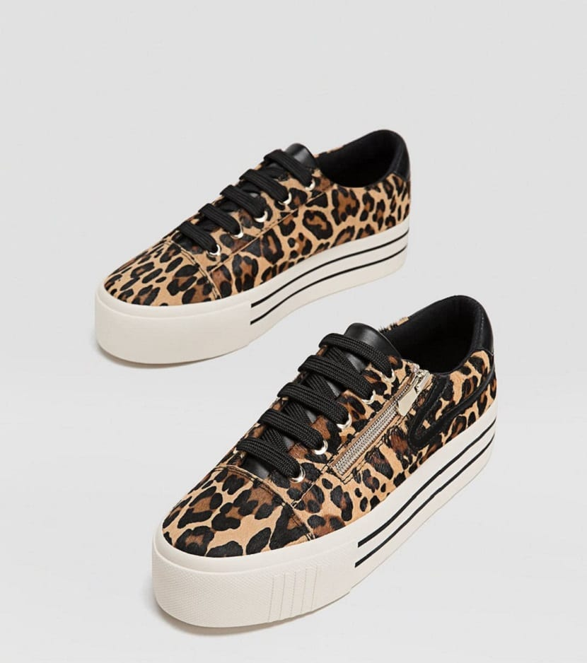 Zapatillas animal print stradivarius