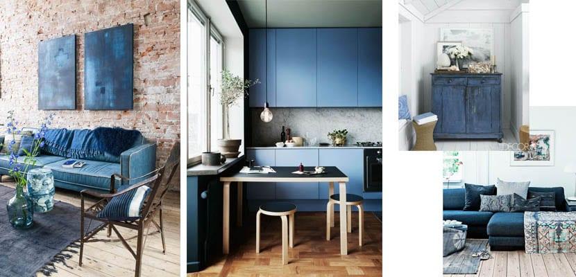 Muebles azul añil