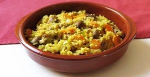 Quinoa con champiñones Portobello y verduras