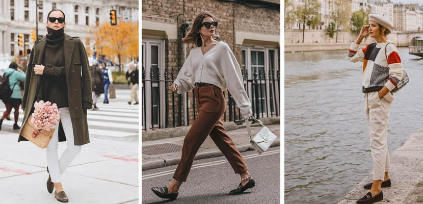 Looks cómodos con mocasines
