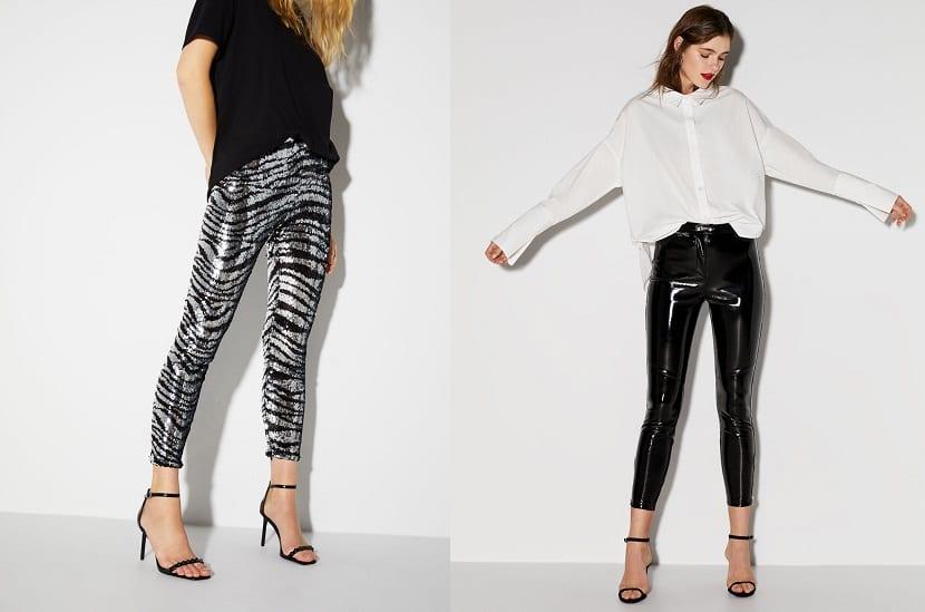 Pantalones pitillo con brillos