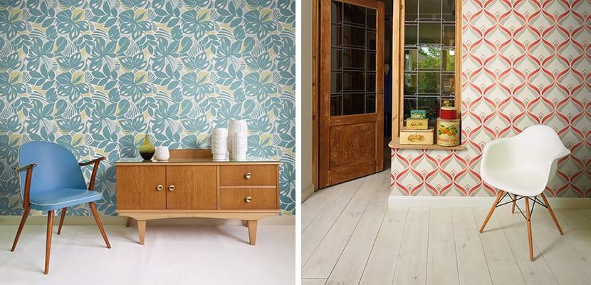 Ideas con papel pintado vintage para decorar el hogar - Papel pintado salones ...