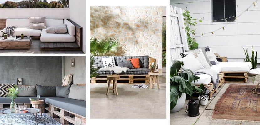 Sofás de palets para espacios exteriores