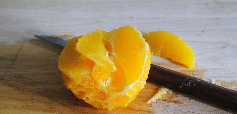 Brochetas de naranja y jamón
