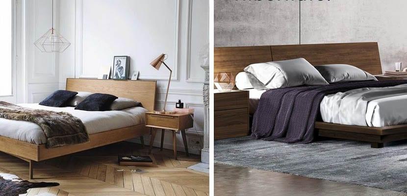 Cabeceros de madera modernos