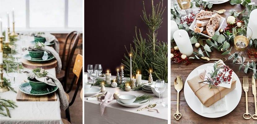 Decoración de mesas para Navidad