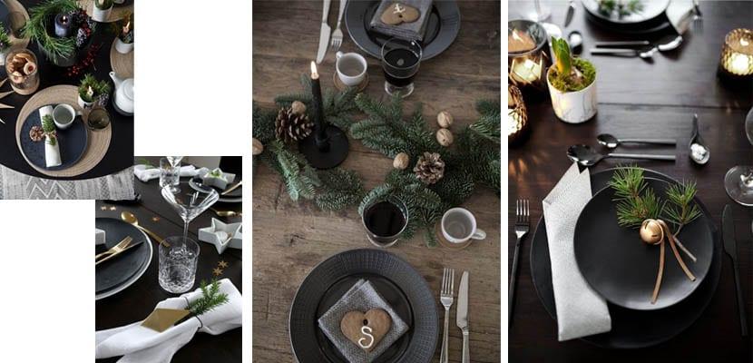 Mesas de Navidad oscuras