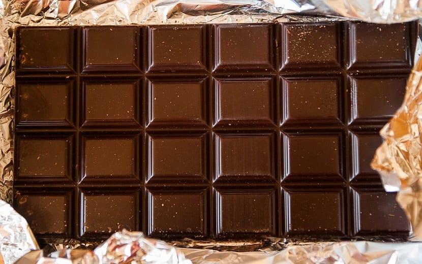 Truco de la tableta de chocolate