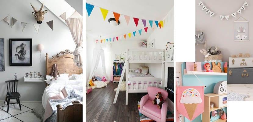 Banderolas en el dormitorio infantil