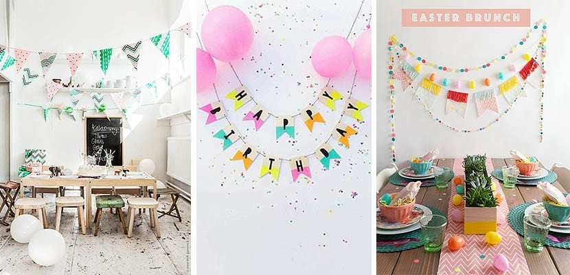 Banderolas para decorar fiestas