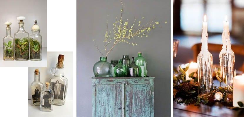 Botellas de cristal para decorar