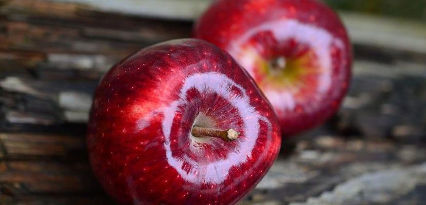 Calorias por 100 gramos de manzana
