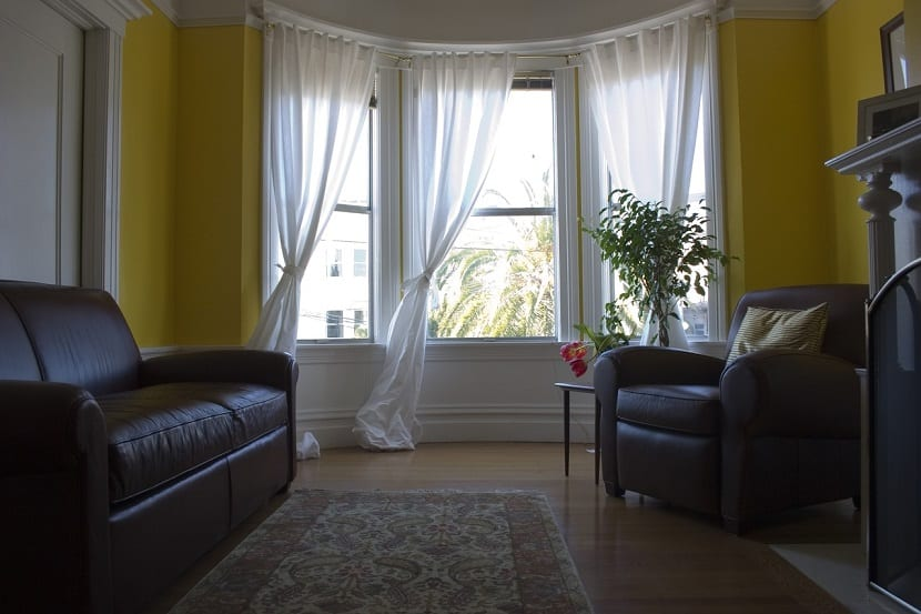 El largo de las cortinas para el salón