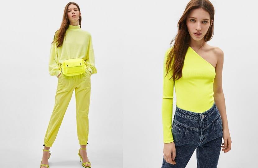 Looks en amarillo neón
