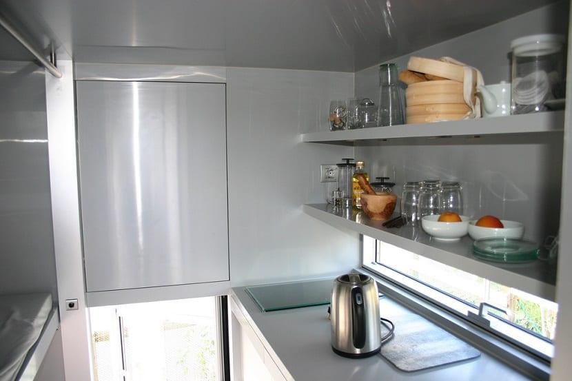 Almacenamiento cocinas alargadas pequeñas