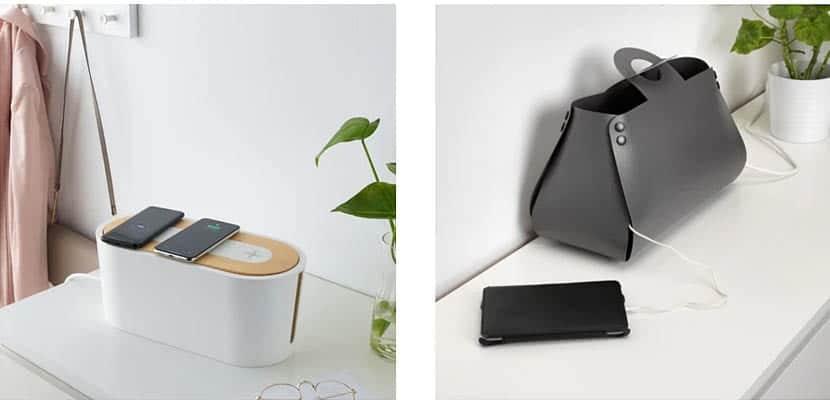 Caja y bolsa organizadoras de cables de Ikea
