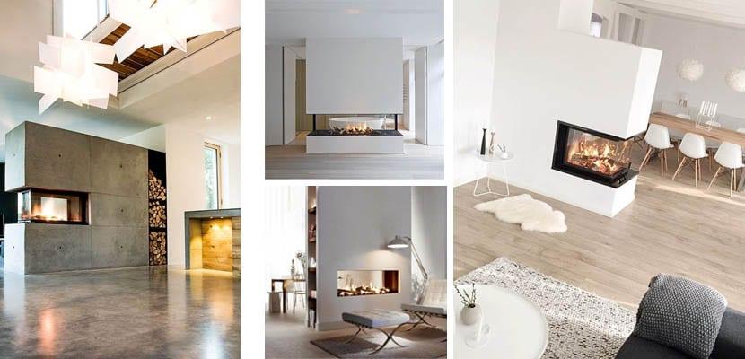 Chimeneas modernas para un hogar c lido - Chimeneas grandes dimensiones ...