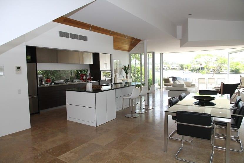 Cocinas abiertas modernas
