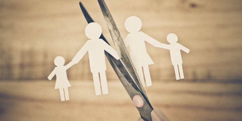 familia que se rompe por divorcio