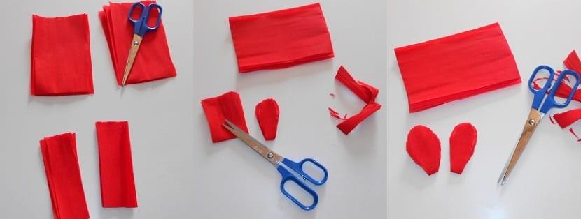 Manualidades con papel crepé