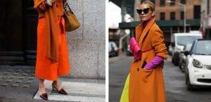 Looks de invierno en tonos naranja