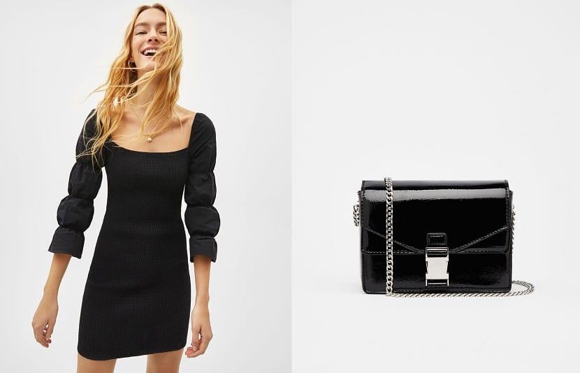 Vestido corto en color negro