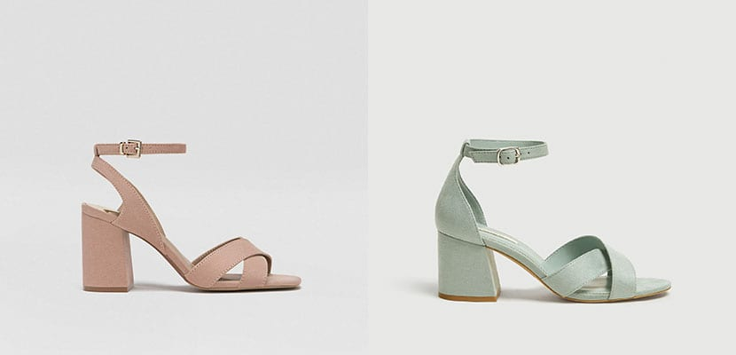 Sandalias en tonos pastel