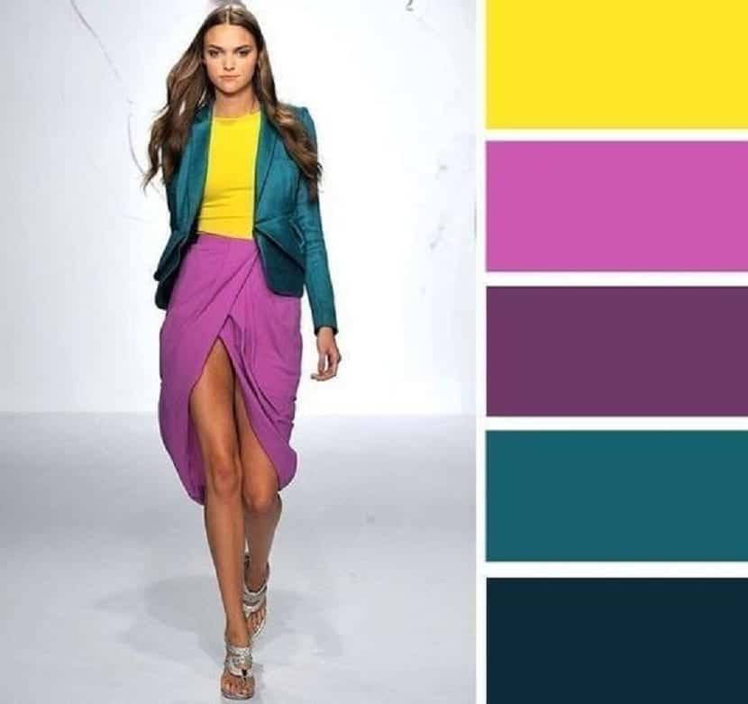 Combinación del color morado