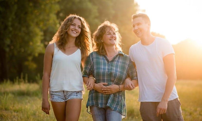 familia feliz de vacaciones