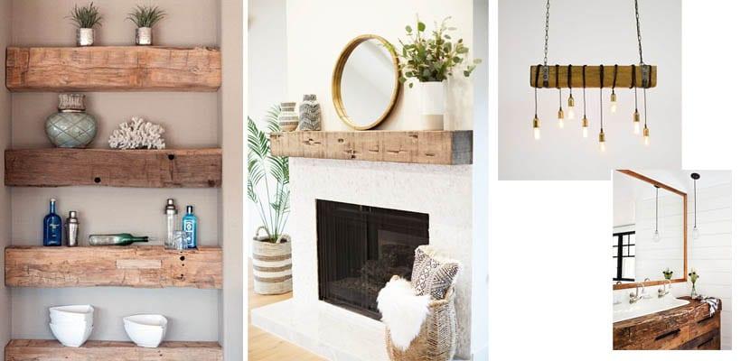 Muebles con vigas de madera