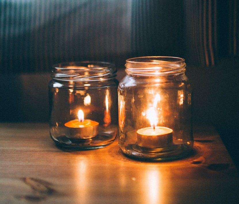 Botes de cristal para velas