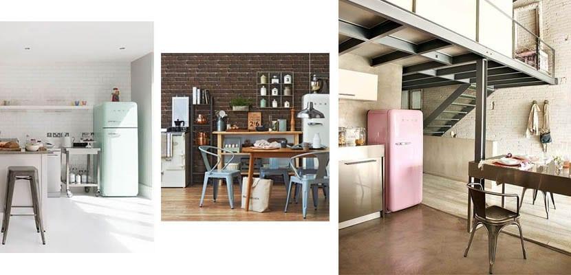 Cocinas industriales con frigoríficos smeg