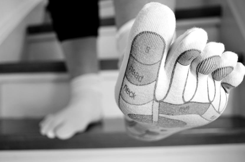 Partes del pie conectadas con órganos del cuerpo