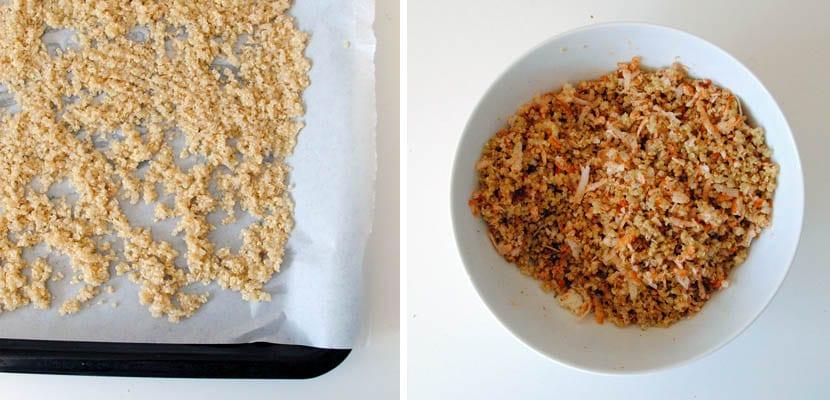 Rebozado de quinoa