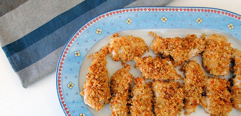 Tiras de pollo con rebozado de quinoa