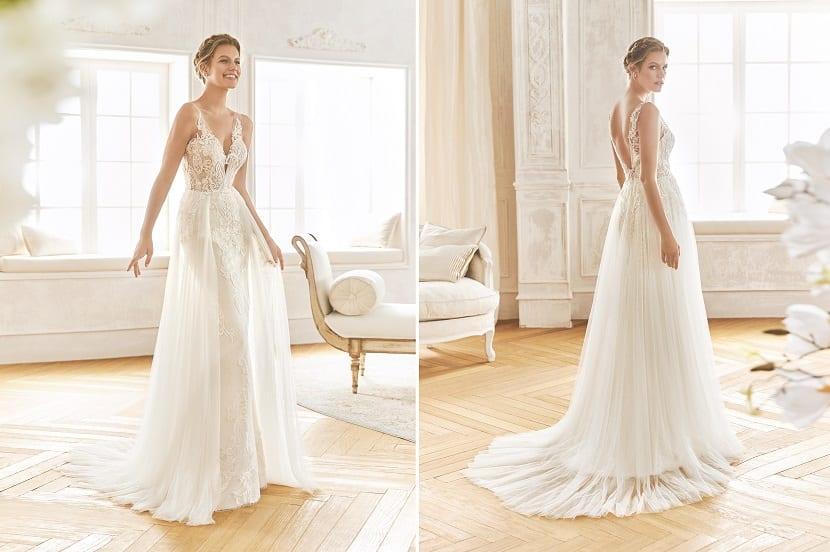 Vestido sirena tul La Sposa