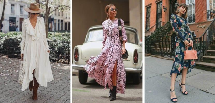Vestidos largos: looks de primavera