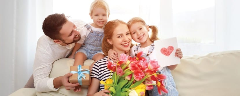 felicidad en el dia de la madre